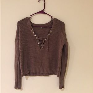 Charlotte Ruse lace up sweater